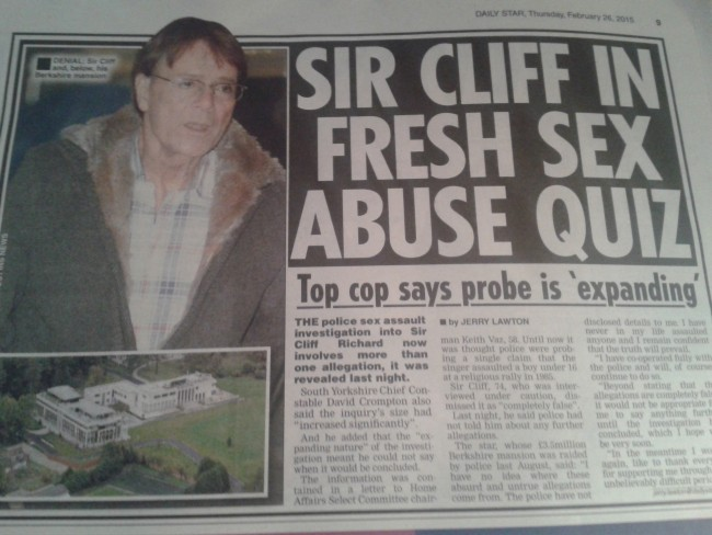 Cliff Richard police raid