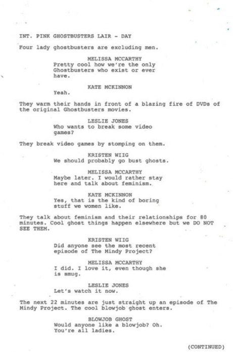 Ghostbusters script