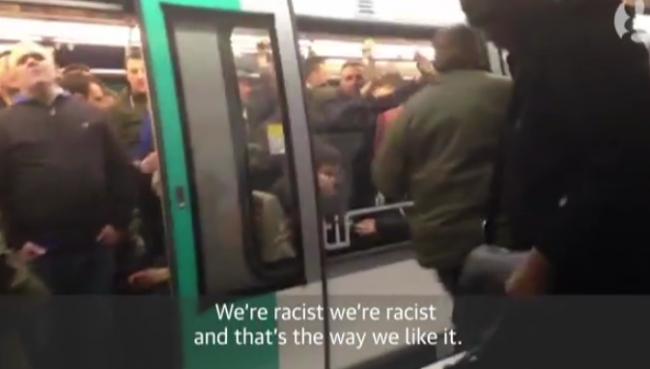 Chelsea fans racism paris