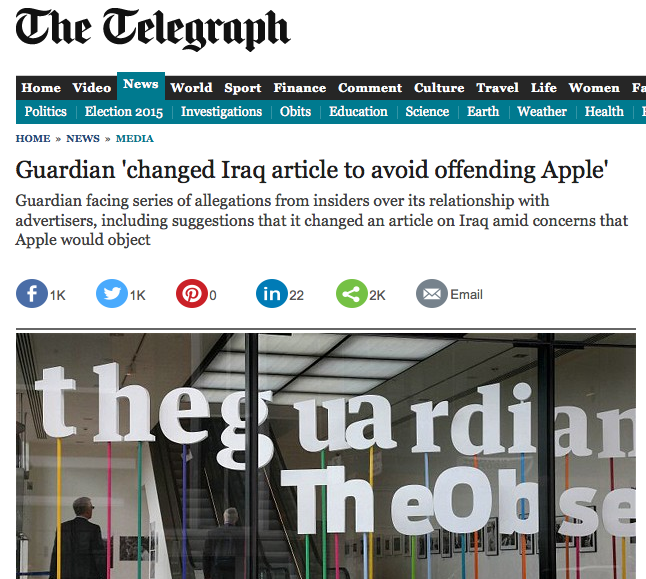 DAily Telegraph guardian apple