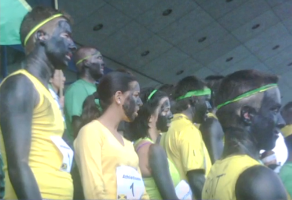 "September 2011: Students at Hautes Etudes Commerciales, a Montreal business school, were filmed ""wearing black makeup [and] chant[ing] with mock Jamaican accents about smoking marijuana"" as part of a skit (source). A student explained that it was part of a skit in honor of Jamacian Olympian Usain Bolt."