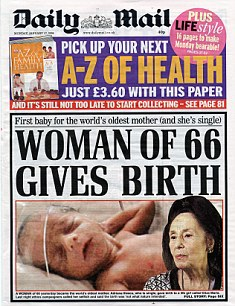 DAily Mail IVF age