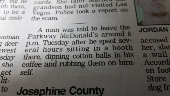 Meanwhile at McDonald's in Roseburg, Oregon