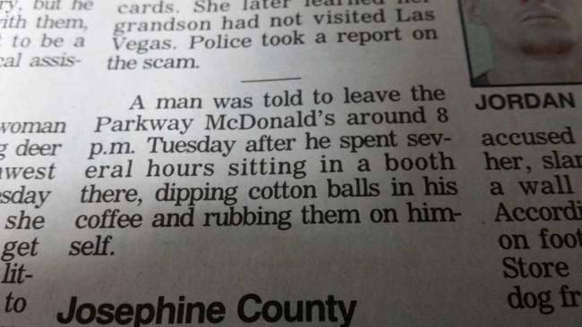 Meanwhile at McDonald's in Roseburg, Oregon