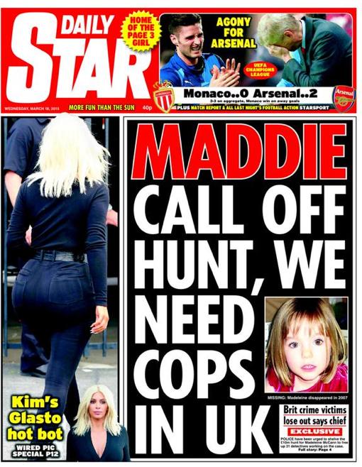 Maddie Mccann hunt