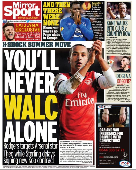Theo Walcott Liverpool trasnfer