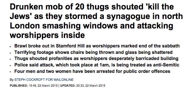 synagogue attack london
