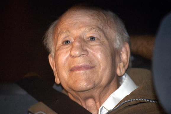 former German Nazi soldier turned Chilean sect leader Paul Schaefer being taken from a police station to be transferred to a prison in Marcos Paz city. A notorious former Nazi who headed the secretive German-speaking Dignity Colony was taken from his prison cell for treatment after breathing problems, 07 May 2007