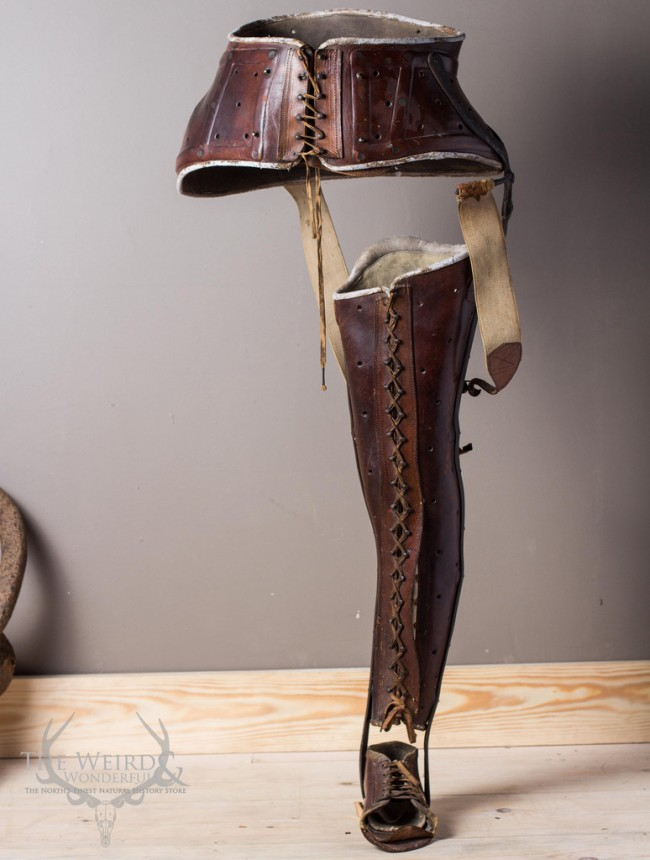 c.1800's Female Leather Leg Splint / Brace -