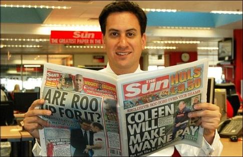 Ed Miliband the sun