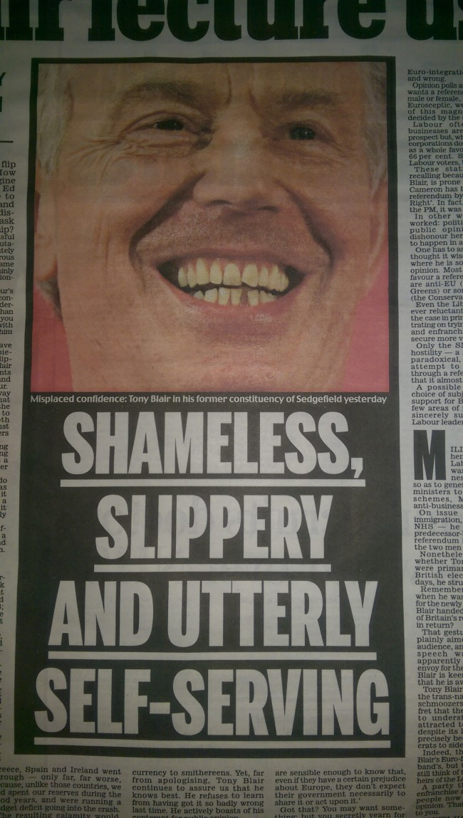 Tony Blair DAily Mail