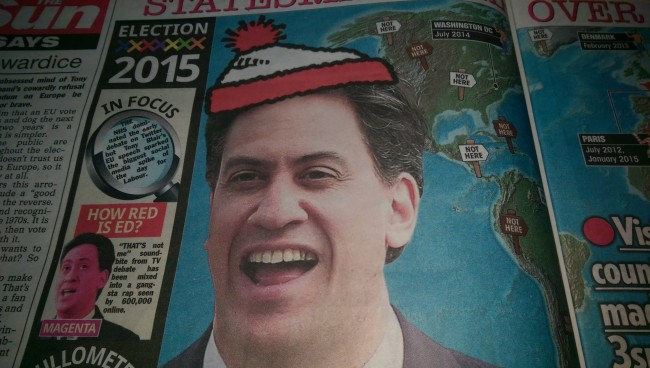 Ed Miliband the sun wally