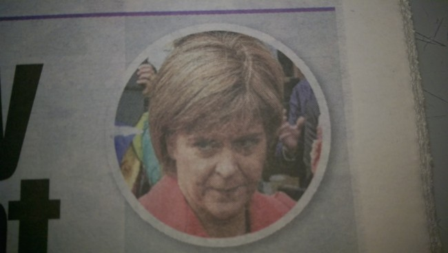 Nicola Sturgeon the sun