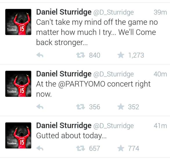 daniel sturridge party