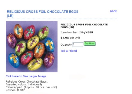 These crucifix adorned Easter Eggs are kosher