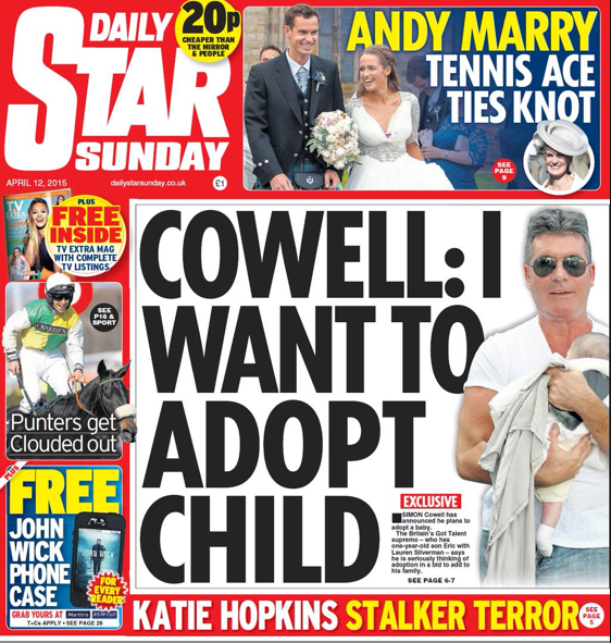 Simon Cowell adopts