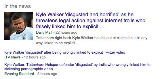 Kyle walker sick video lie