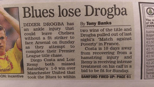 Drogba out express