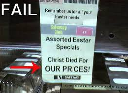 Christ EAster prices fail