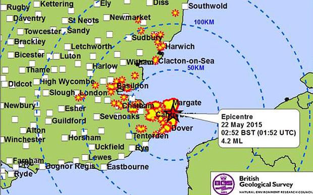 Kent earhquake