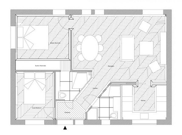 This-floor-plan-shows-how-Ivar-Design-have-cleverly-reconfigured-the-apartment