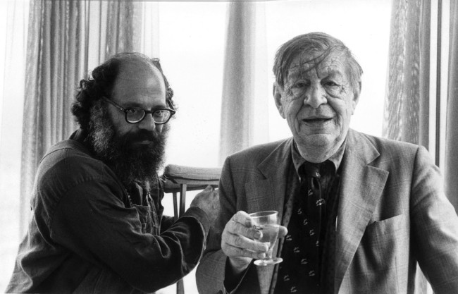 3rd July 1973:  American poet Allen Ginsberg (1926 - 1997) with Anglo-American poet and playwright W H Auden (1907 - 1973).  (Photo by Evening Standard/Getty Images)