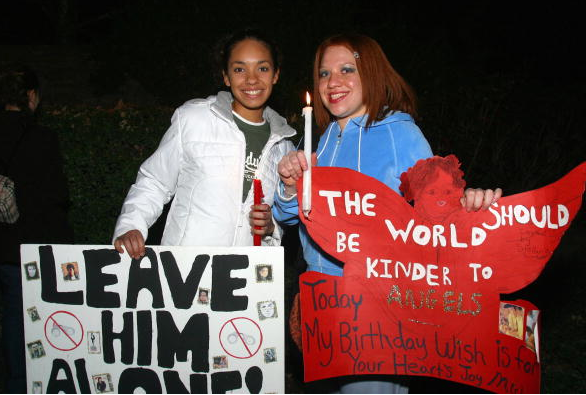 Hundreds of Michael Jackson fans converged on Neverland Ranch for a candlelight vigil in support of Jackson January 15, 2004 in Santa Ynez, California