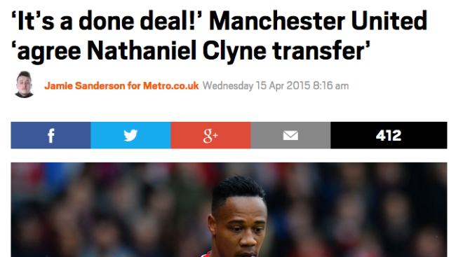 clyne manchester united