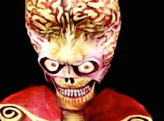 mars attacks face paint