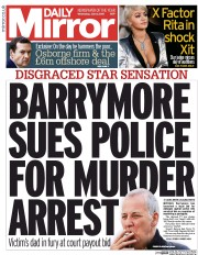 barrymore sues police