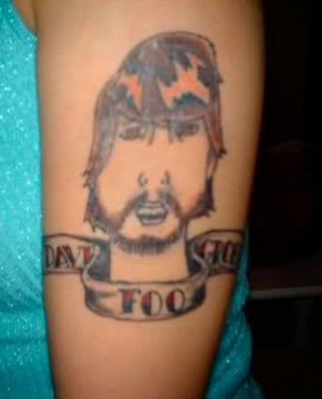 Dave Grohl bad tattoo