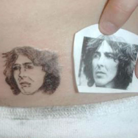 George Harrison bad tattoo