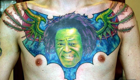 James Brown tattoo