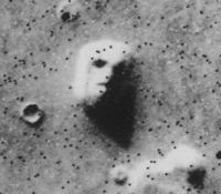 "The ""Face on Mars"" was one of the most striking and remarkable images taken during the Viking missions to the red planet. Unmistakeably resembling a human face, the image caused many to hypothesize that it was the work of an extraterrestrial civilization. Later images revealed that it was a mundane feature rendered face-like by the angle of the Sun."
