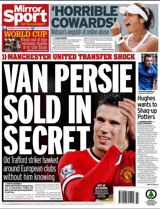 Robin Van Persie sold
