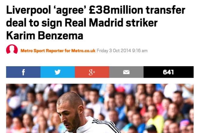 Karim Benzema arsenal move transfer