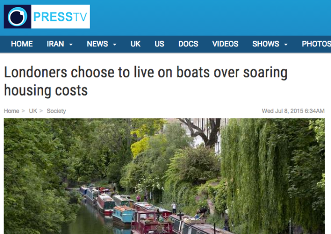 Press TV London boats