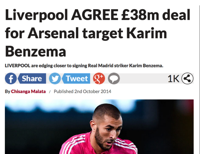 benzema agrees liverpool
