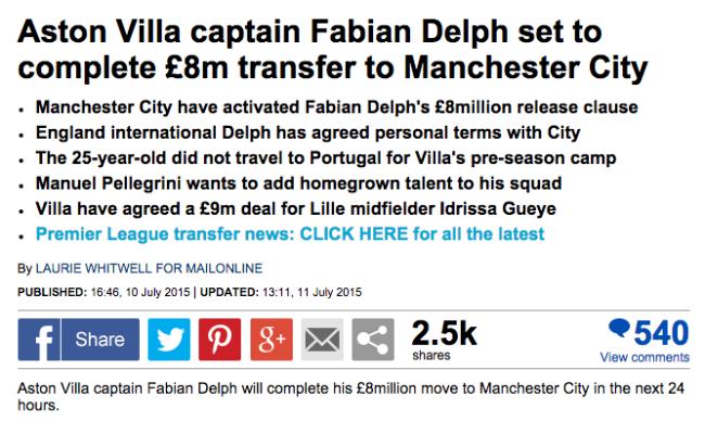 delph agrees aston villa
