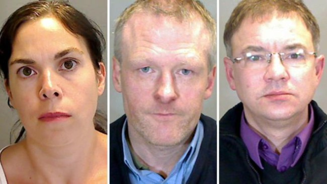 Marie Black, Michael Rogers and Jason Adams preyed on children aged under 13