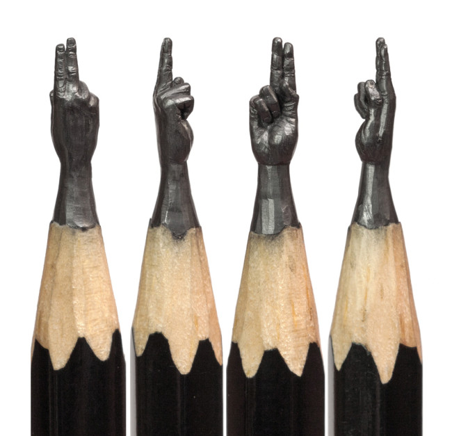 Delicate Pencil Lead Sculptures