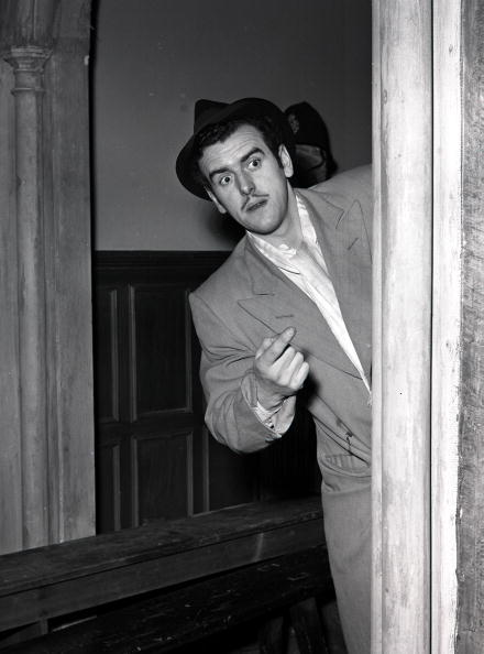 "Cinema, 1954, A picture of the actor George Cole during the making of the film ""Belles of St, Trinians,""  (Photo by Popperfoto/Getty Images)"
