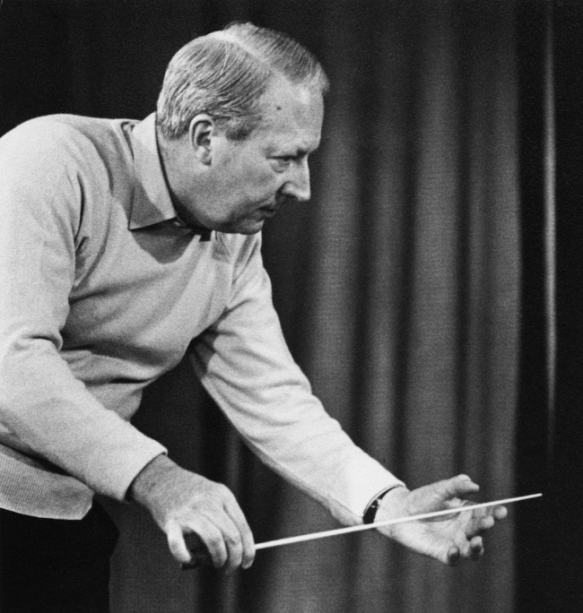 British Conservative Party politician and amateur musician Edward Heath (1916 - 2005) conducting, circa 1965. (Photo by Erich Auerbach/Hulton Archive/Getty Images)