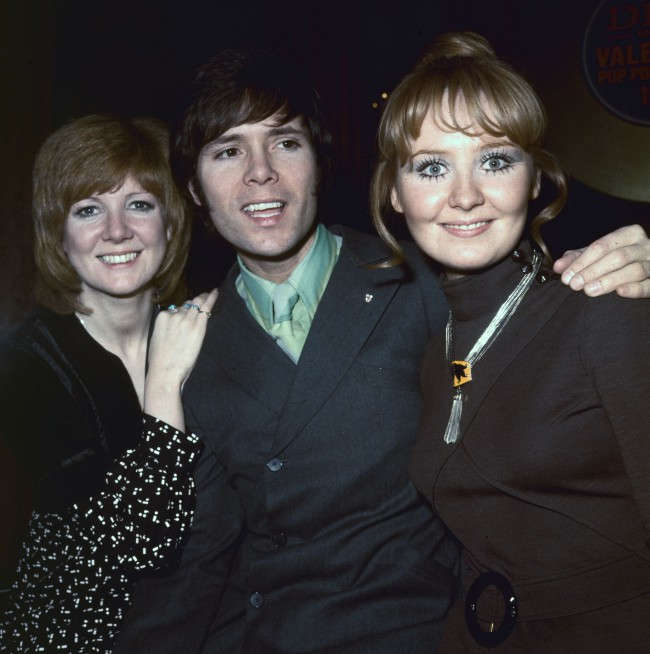 Pop singers Cilla Black (left), Cliff Richard and Lulu with their awards at the 'Disc and Music Echo'  Valentine Awards ceremony at the Cafe Royal in London.   (Photo by Hulton Archive/Getty Images)