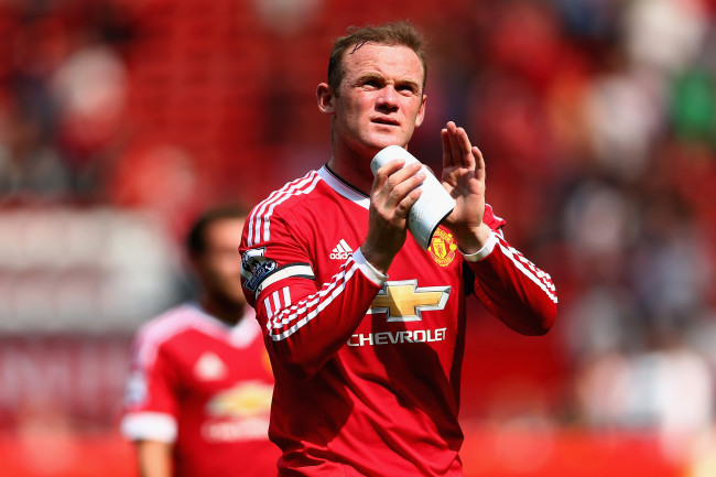 MANCHESTER, ENGLAND - AUGUST 08:  Wayne Rooney of Manchester United celebrates his 1-0 win in the Barclays Premier League match between Manchester United and Tottenham Hotspur at Old Trafford on August 8, 2015 in Manchester, England.  (Photo by Clive Brunskill/Getty Images)