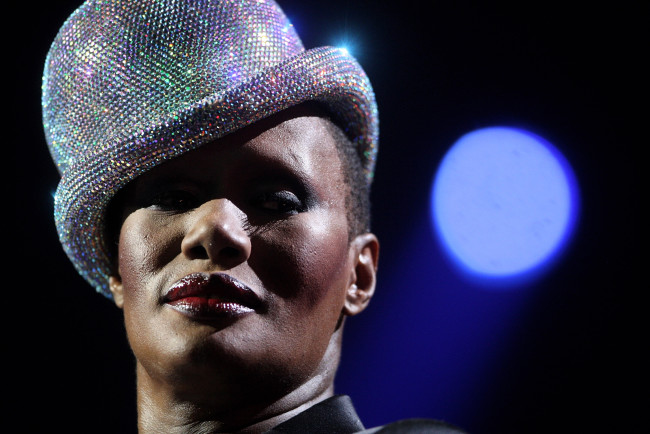 LIVERPOOL, UNITED KINGDOM - NOVEMBER 06:  Grace Jones onstage at the MTV Europe Music Awards, held at the Echo Arena on November 6, 2008 in Liverpool, England.  (Photo by Getty Images/Getty Images)