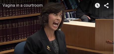 Vagina in court
