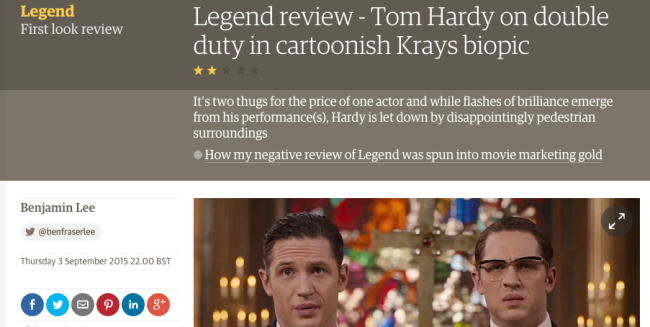 legend film review guardian