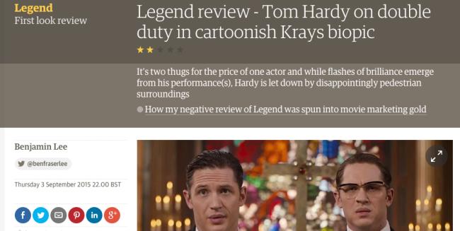 legend film review guardian