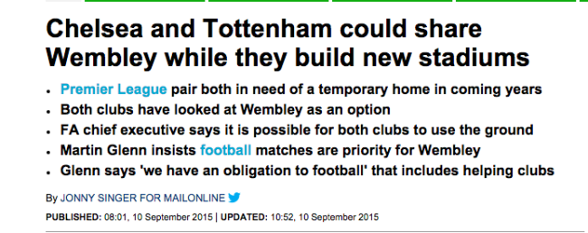 Wembley daily mail